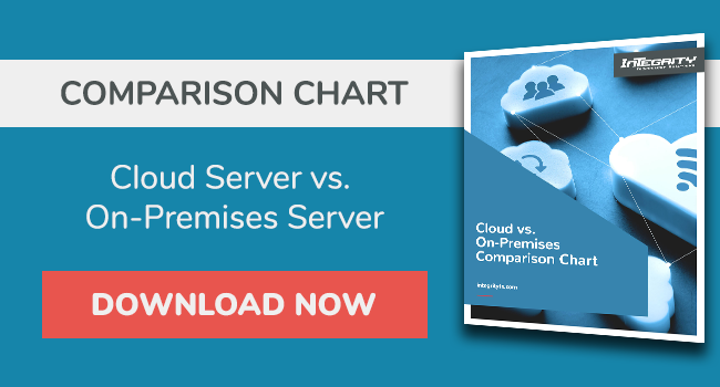 Cloud vs. On-Premises Comparison Chart
