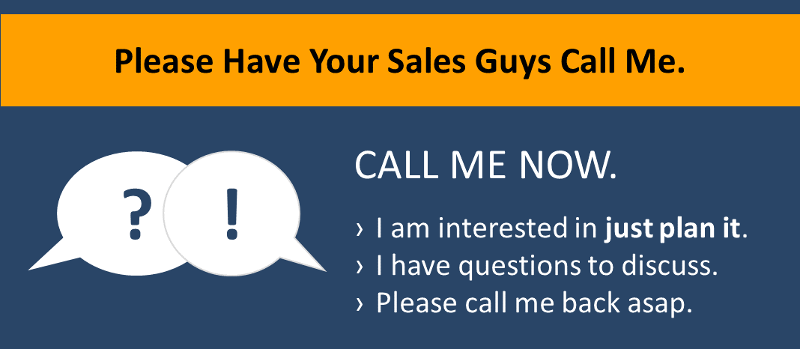 Please have your sales guys call me.