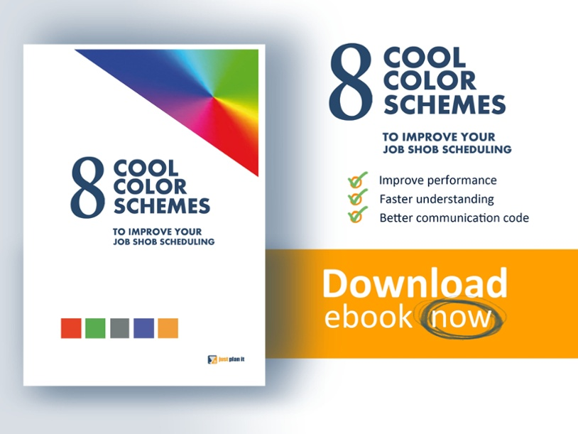 Get you free ebook: 8 cool color schemes to improve your job shop scheduling