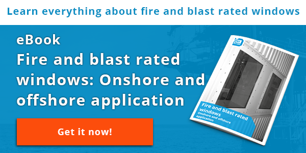 Onshore and offshore aplication of fire and blast rated windows