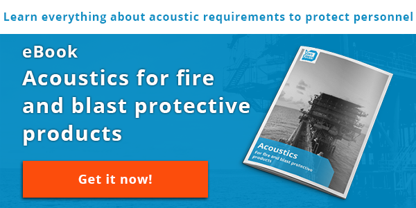 Acoustics for fire and blast protective products