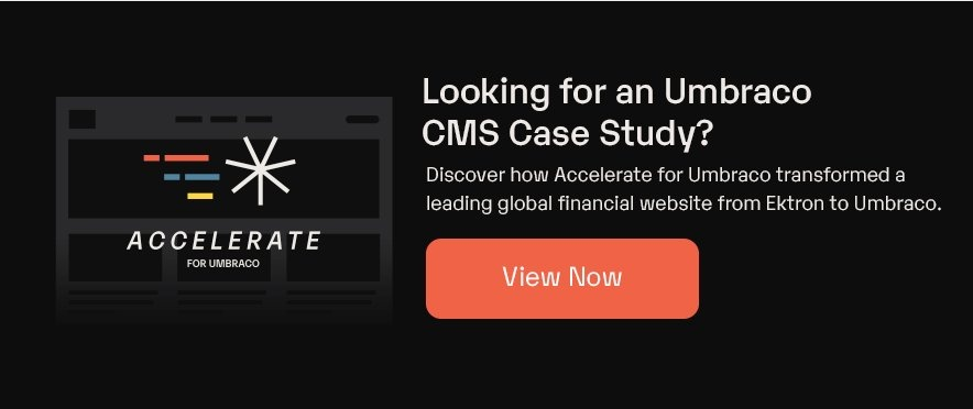Looking for an Umbraco CMS case study?