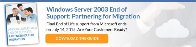 Windows Server 2003 end of support eBook