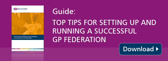Guide: Top tips for setting up and running a successful GP federation
