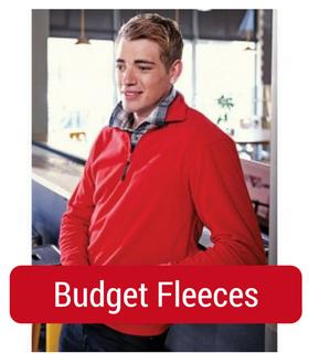 man in budget fleece