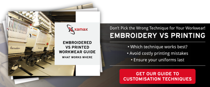 CTA for print v embroidery guide