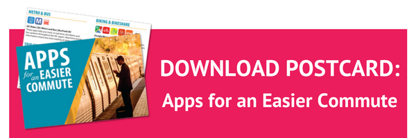 Download the Apps for an Easier Commute Postcard