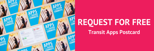 Request free transit apps postcards