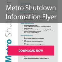 Download the Summer Metro Shutdown 2019 Flyer
