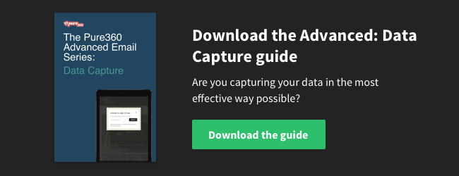 Download the Advanced Email Series: Data Capture Guide