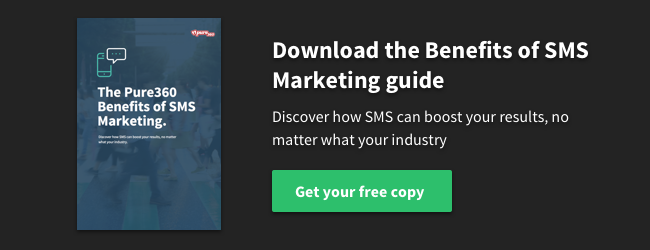 Download the Pure360 Benefits of SMS Marketing Guide