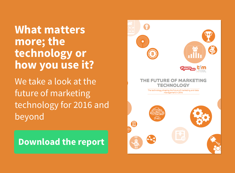 Get the Future of Marketing Technology 2016 Report