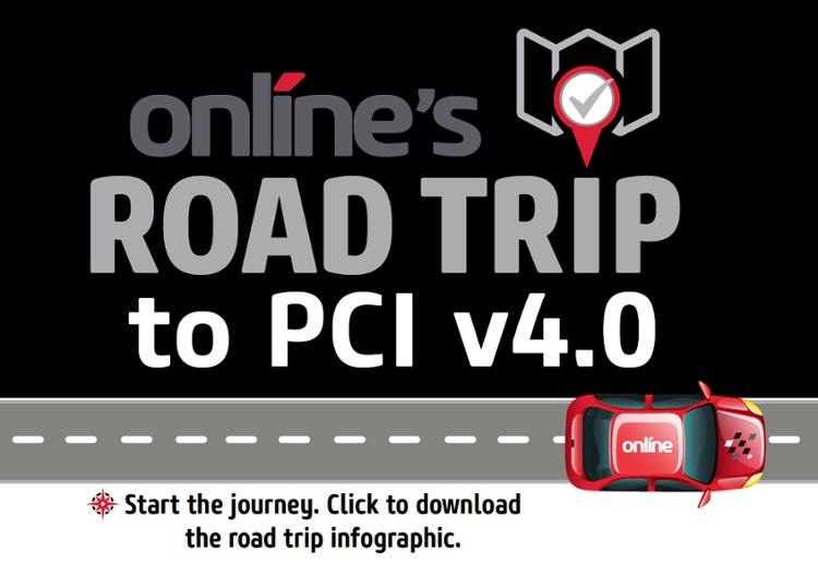 Online's Road Trip to PCI v4.0 Infographic