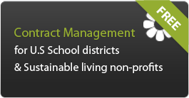 Contract Management for US school districts and sustainble living non-profits