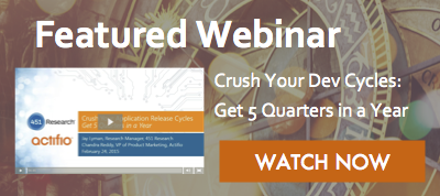Featured Webinar - Crush Your Dev Cycles: Get 5 Quarters in a Year. Watch now!