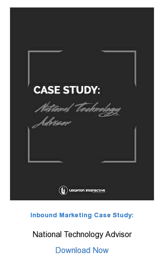 Inbound Marketing Case Study:  National Technology Advisor  Download Now