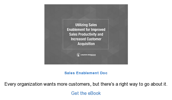 Sales Enablement Doc  Every organization wants more customers, but there's a right way to go about  it.  Get the eBook
