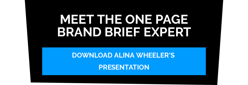 Meet The One Page Brand Brief Expert Download Alina Wheeler's Presentation