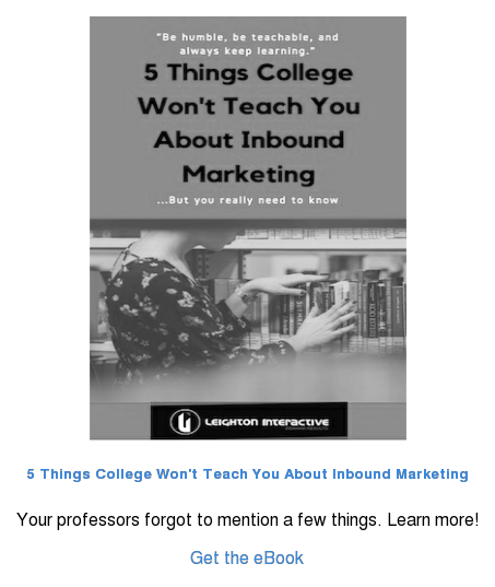 5 Things College Won't Teach You About Inbound Marketing