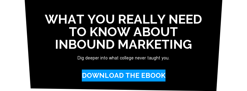 What you really need to know about inbound marketing  Dig deeper into what college never taught you. Download the eBook