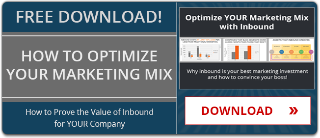 Optimize your Marketing Mix with Inbound - How to Prove the Value of Inbound for YOUR Company