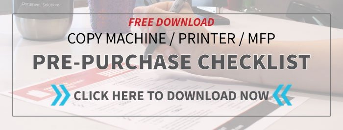Copier Printer MFP Pre-purchase Checklist
