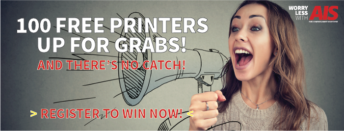 Worry Less With AIS 100 Free Printer Giveaway