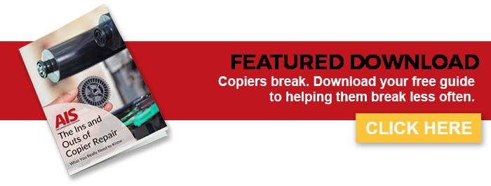 Do you know how to keep your copiers from breaking down all the time? Download your FREE eBook to find out.