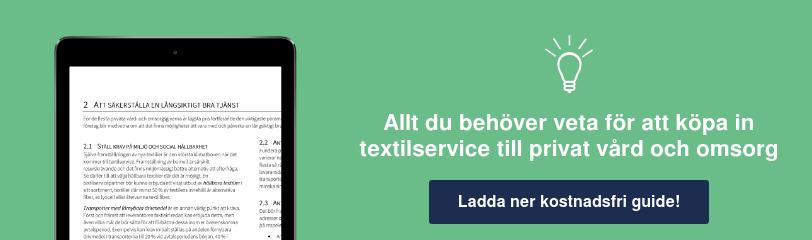 Guide för att köpa in textilservice för privat vård och omsorg Ladda ner kostnadsfri guide!