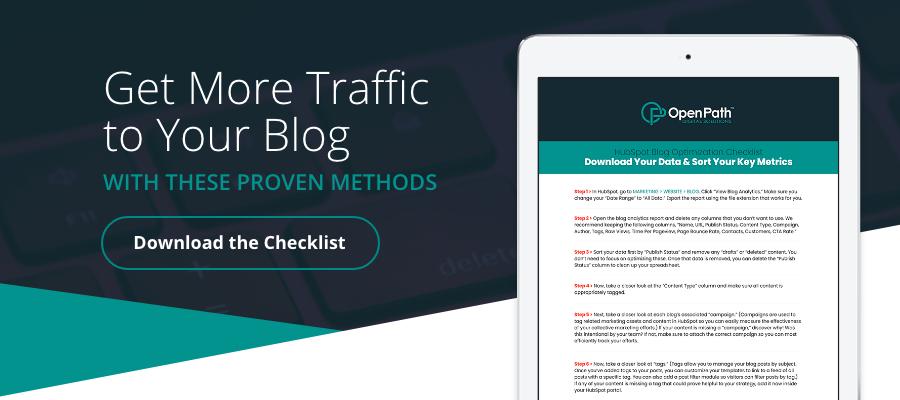 How to optimize a blog checklist