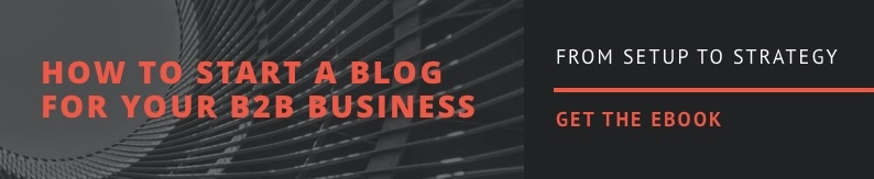 How to start a blog for your b2B business ebook