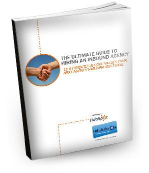 book cover for ultimate guide to hiring an inbound agency