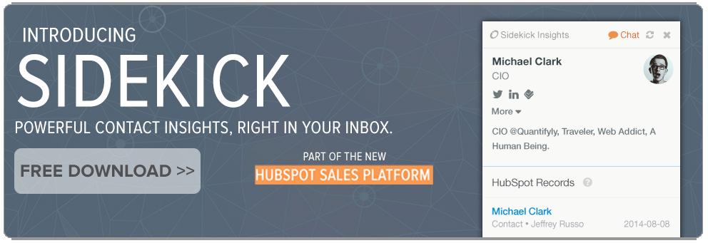 HubSpot Sidekick Tool
