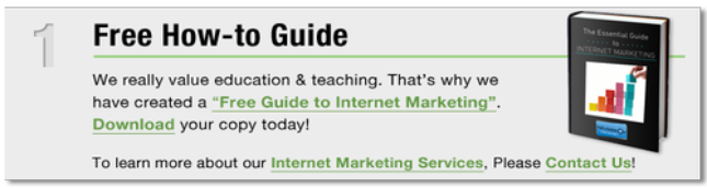 Internet Marketing Free Guide: Half a Bubble out