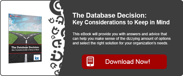 The Database Decision: Key Considerations to Keep in Mind