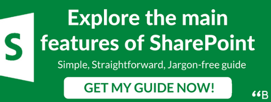 SharePoint Call to action banner to download guide