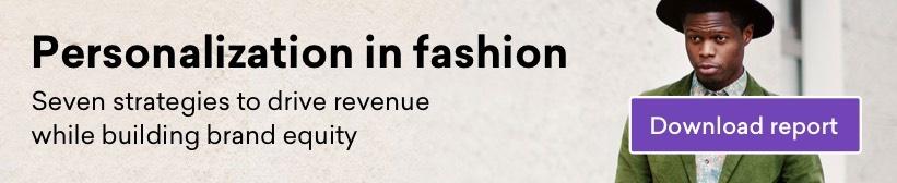Personalization in Fashion - cta