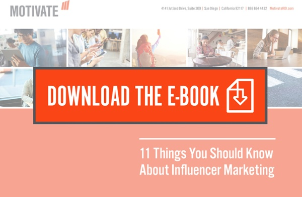 Download the 11 Things You Should Know About Influencer Marketing E-Book Button