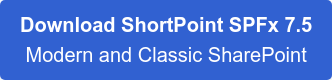 Download ShortPoint 6.1.0.0 For Modern & Classic SharePoint SPFx Ready
