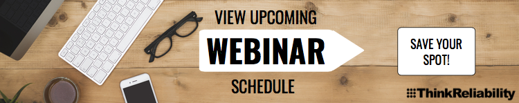 Root cause analysis webinar schedule