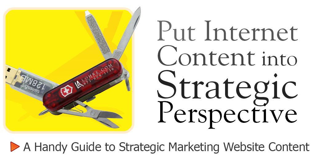 Strategic Content Creation Handbook by Cincinnati Advertising Agency, Lohre & Associates