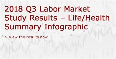 2018 Q3 Labor Market Study Results - Life/Health Summary Infographic