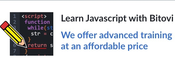 Learn Javascript with Bitovi. We offer advanced training at an affordable price.