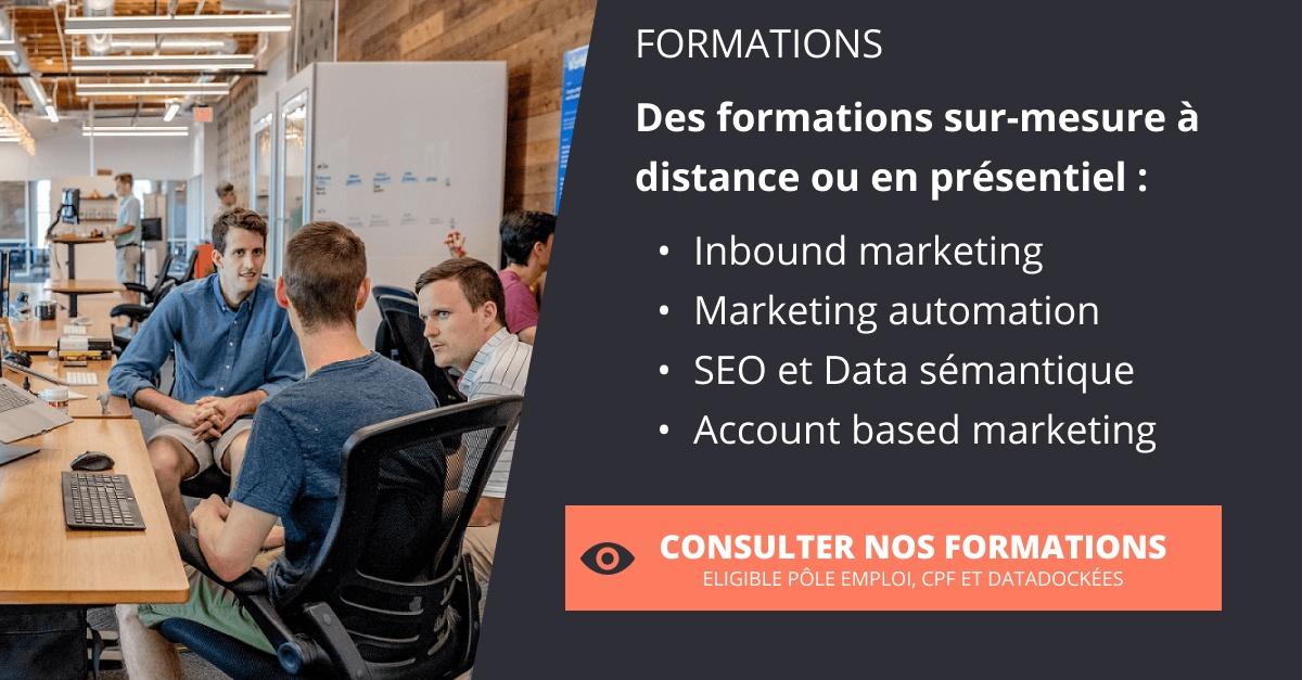 Consultez notre offre de formation sur le marketing digital.