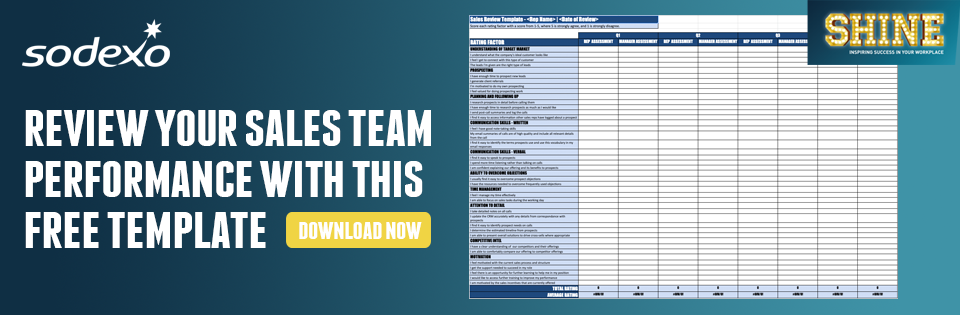 Review your sales team performance with this free template