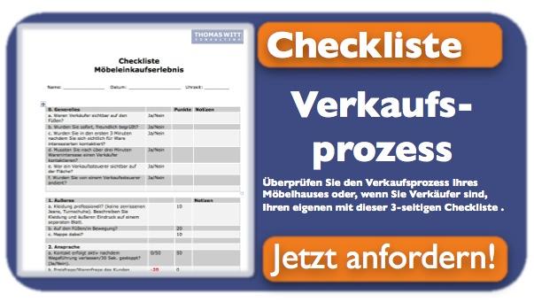 Checkliste für den Verkaufsprozess eines Möbelhauses