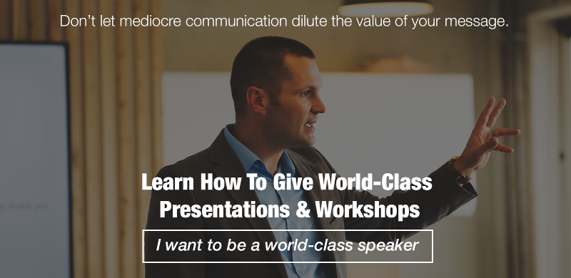 I Want to be a World-Class Speaker