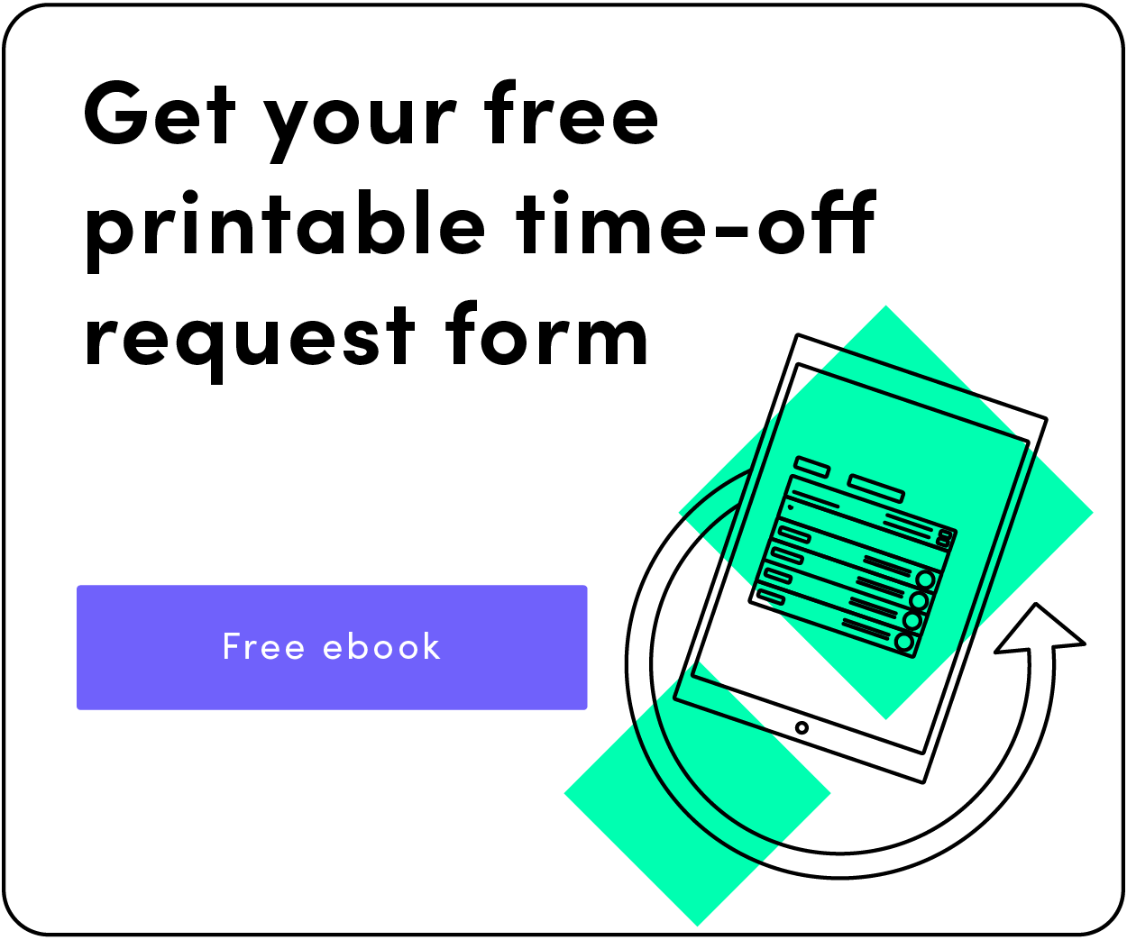 free time-off request form