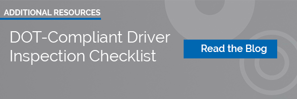 DOT Driver Inspection Checklist