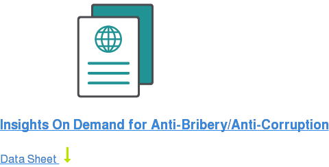 Insights On Demand for Anti-Bribery/Anti-Corruption Data Sheet